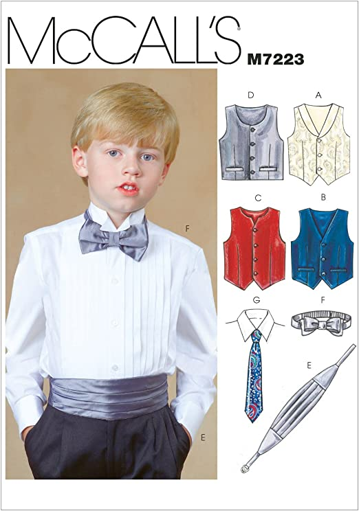McCall/'s 8337 Boys/' and Girls/' Lined Vests   Sewing Pattern