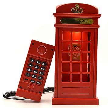 Cabine Téléphonique Usb Londres Vintage De Conçue Led Lampe Charge fgyb67