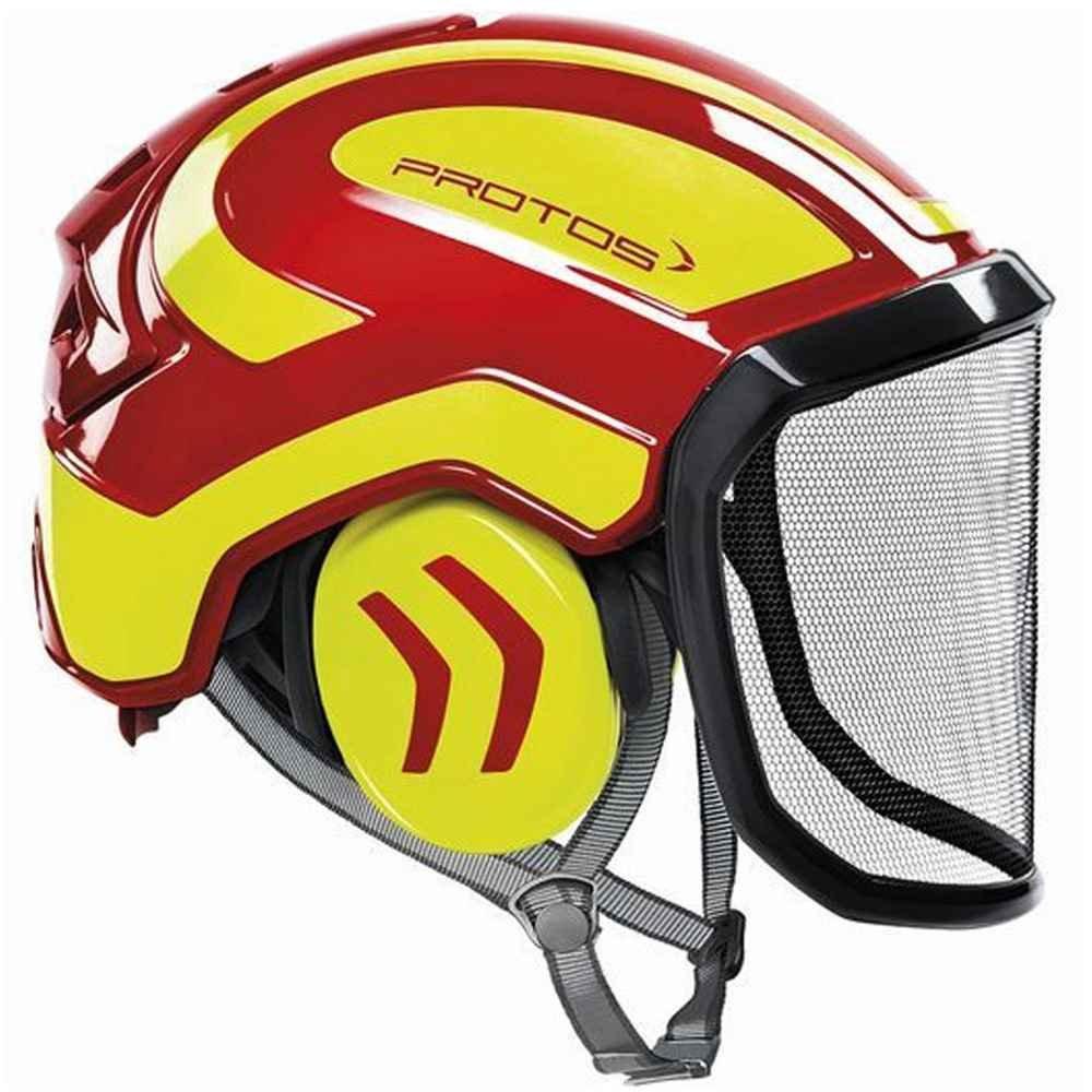 Pfanner Protos Integral Arborist Helmet (Red/Yellow)