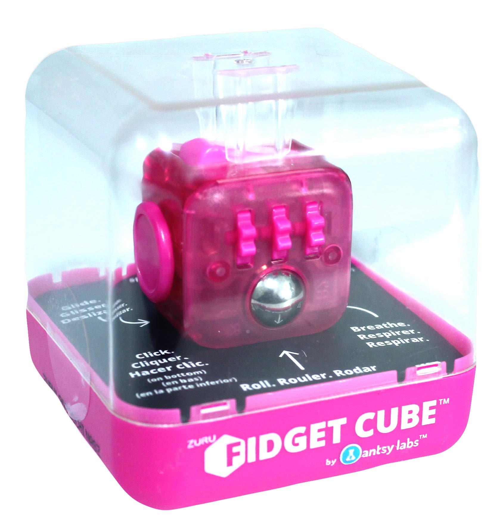 Zuru Fidget Cube by Antsy Labs - Custom Series (Solid Pink Switch) Hot Pink Fidget Cube by Zuru Fidget Cube by Antsy Labs (Image #2)