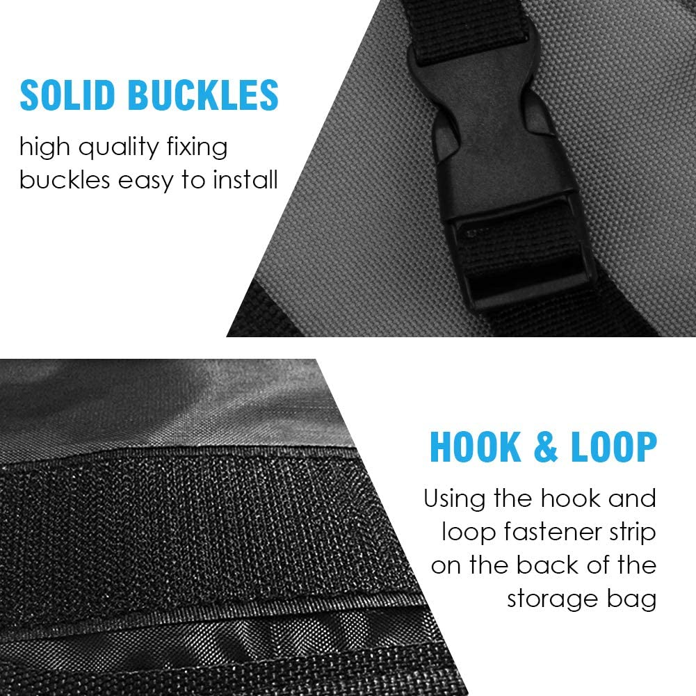 Grey Auto Hanging Trunk Backseat Car Storage Bag Pouch with 8 Large Capacity Pockets and Adjustable Strap for SUV Trunk Cargo Organizer Carperipher Back Seat Trunk Organizer for Car
