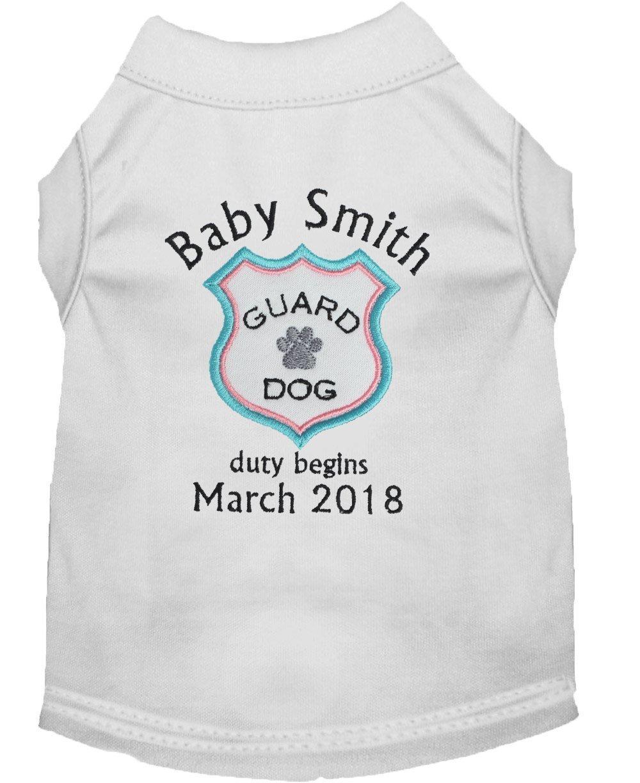 Baby Guard Dog Duty Begins Shirt, Pregnancy Announcement Pet TShirt