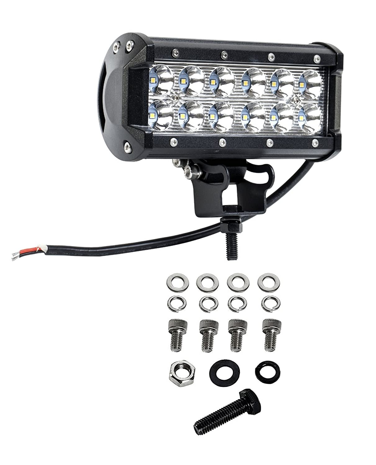 Cutequeen 4 X 36w 3600 Lumens Cree LED Spot Light for Off-road Rv Atv SUV Boat 4x4 Jeep Lamp Tractor Marine Off-road Lighting