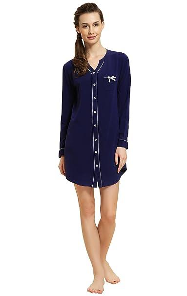 Ladies Long Short Sleeve Nightdress T Shirt Nighty Nightshirt Nightie Chemise