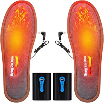 Lixada 電熱インソール USB加熱インソール インソールフット ウォーマー 男性女性 バッテリー 駆動 加熱インソール 作業用 冬暖かい 靴 インソール スキー ハイキング キャンプ