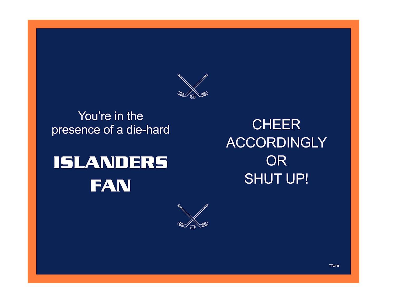 14-Ounce Tree Free Tree-Free Greetings TT02186 Islanders Hockey Fan 18-8 Double Wall Stainless Artful Tumbler