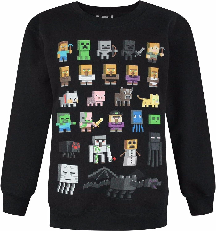 Bambino Felpa Ufficiale con Personaggi Minecraft