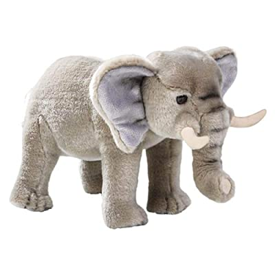 Wildlife Tree Standing 12 Inch Stuffed Elephant Plush Floppy Animal Kingdom Collection: Toys & Games