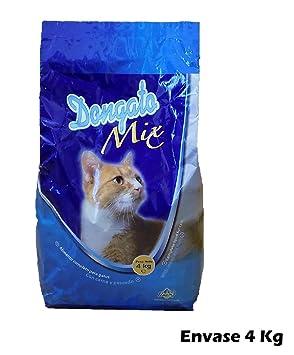 DONGATOMIX Saco de pienso 4 Kg Comida para Gatos con Carne y Pescado: Amazon.es: Hogar