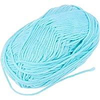 VORCOOL Milk Cotton Yarn Cotton Chunky Hand-Woven Crochet Knitting Wool Yarn Warm Soft Yarn for Sweaters Hats Scarves DIY (Light Turquoise)