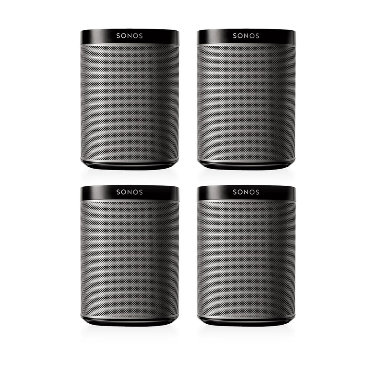 Sonos Play:1 Multi-Room Digital Music System Bundle (4 - Play:1 Speakers) - Black by Sonos