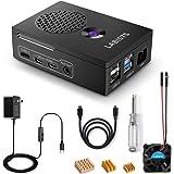LABISTS Raspberry Pi 4 Case with Heatsink Fan, 3 Heatsinks, 5.1V 3A USB-C Power Supply Works with Pi 4 Model B and…