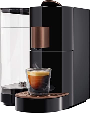 K-fee Twins II - Cafetera de cápsula (1455 W, depósito de agua de 2,3 L, color cobre negro): Amazon.es: Hogar