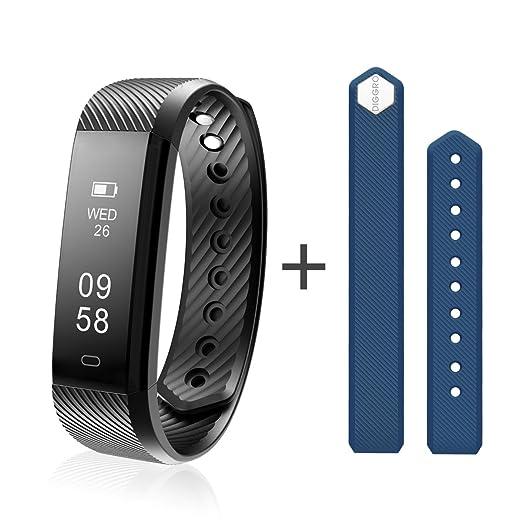 9 opinioni per Diggro-ID115HR Intelligente Braccialetto Bluetooth 4.0 Pedometro Caloria di