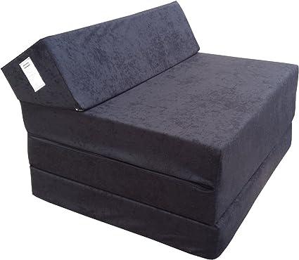 Natalia Spzoo Colchón Plegable Cama de Invitados colchón de Espuma 200x70 cm FM (Negro)