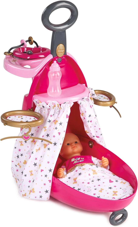 Trolley nursery 2en1 para muñecos bebé de Baby Nurse (Smoby 220316)