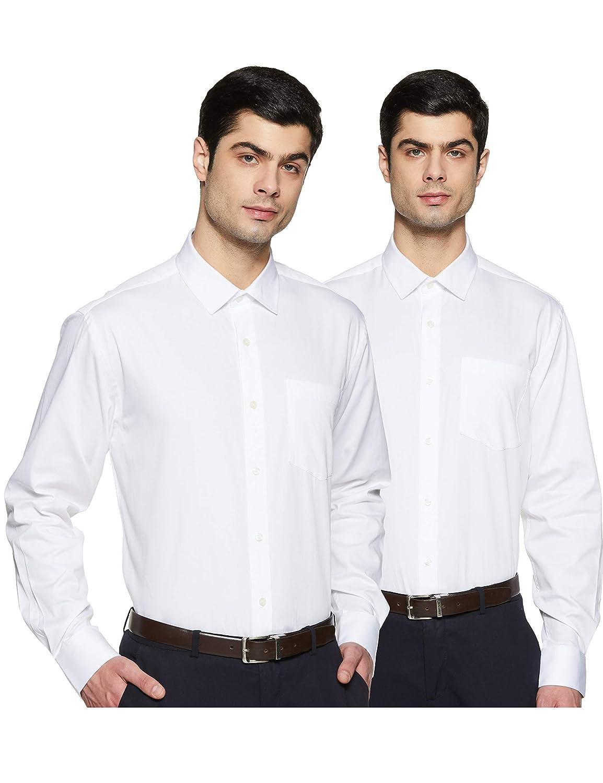 Amazon Brand – Symbol Men's Regular Fit Shirt – Pack of 2