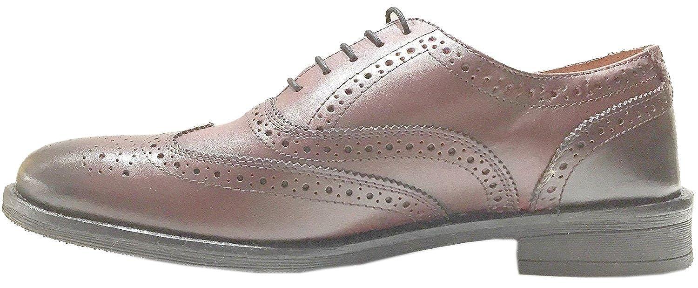 Lambretta Fleet Bordo Leather Mens Formal Brogue Casual Shoes-7 xV2ibIw4