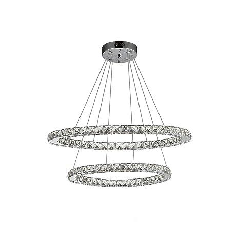 Etelux Lámpara Colgante LED de Cristal Araña Moderna Lámpara ...