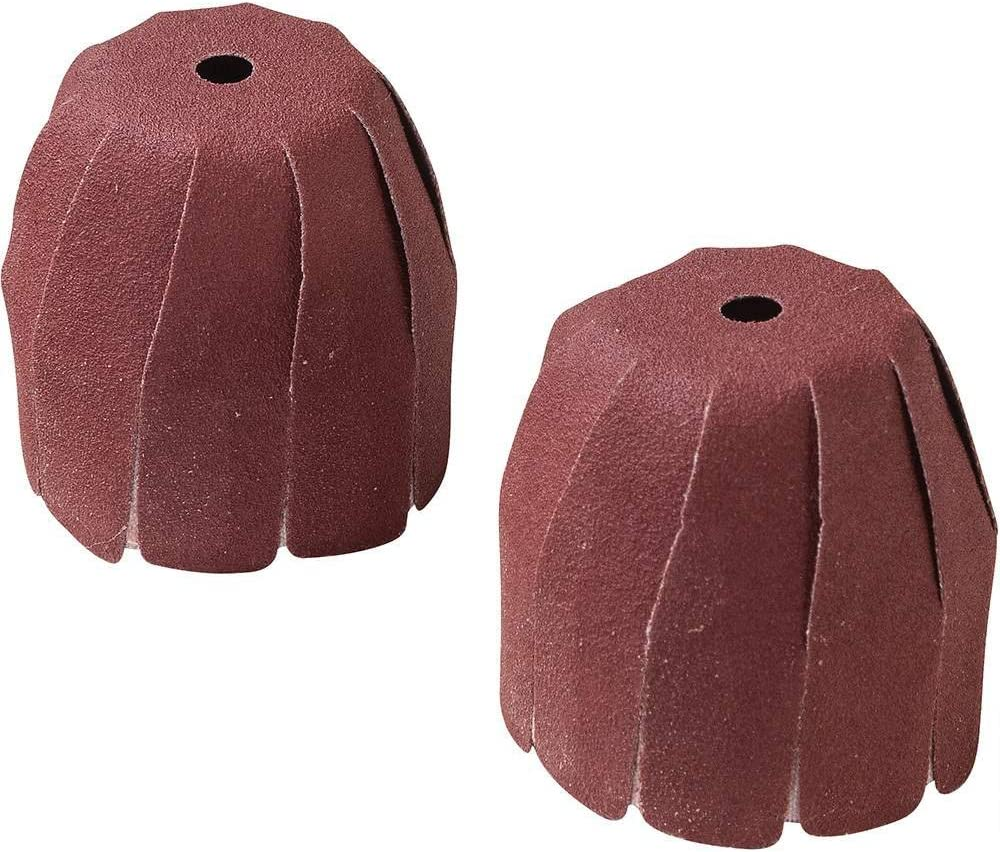 Utoolmart 2.35mm Dia Shank Cylindrical Grinding Heads 12mm Dia Abrasive Sanding Sleeves Assorted 1500 Grits Polishing Sandpaper 2pcs