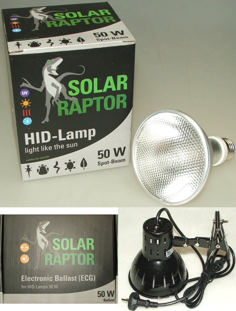Solar Raptor 50 Watt Spot Set inkl. EVG + Clamp Lamp