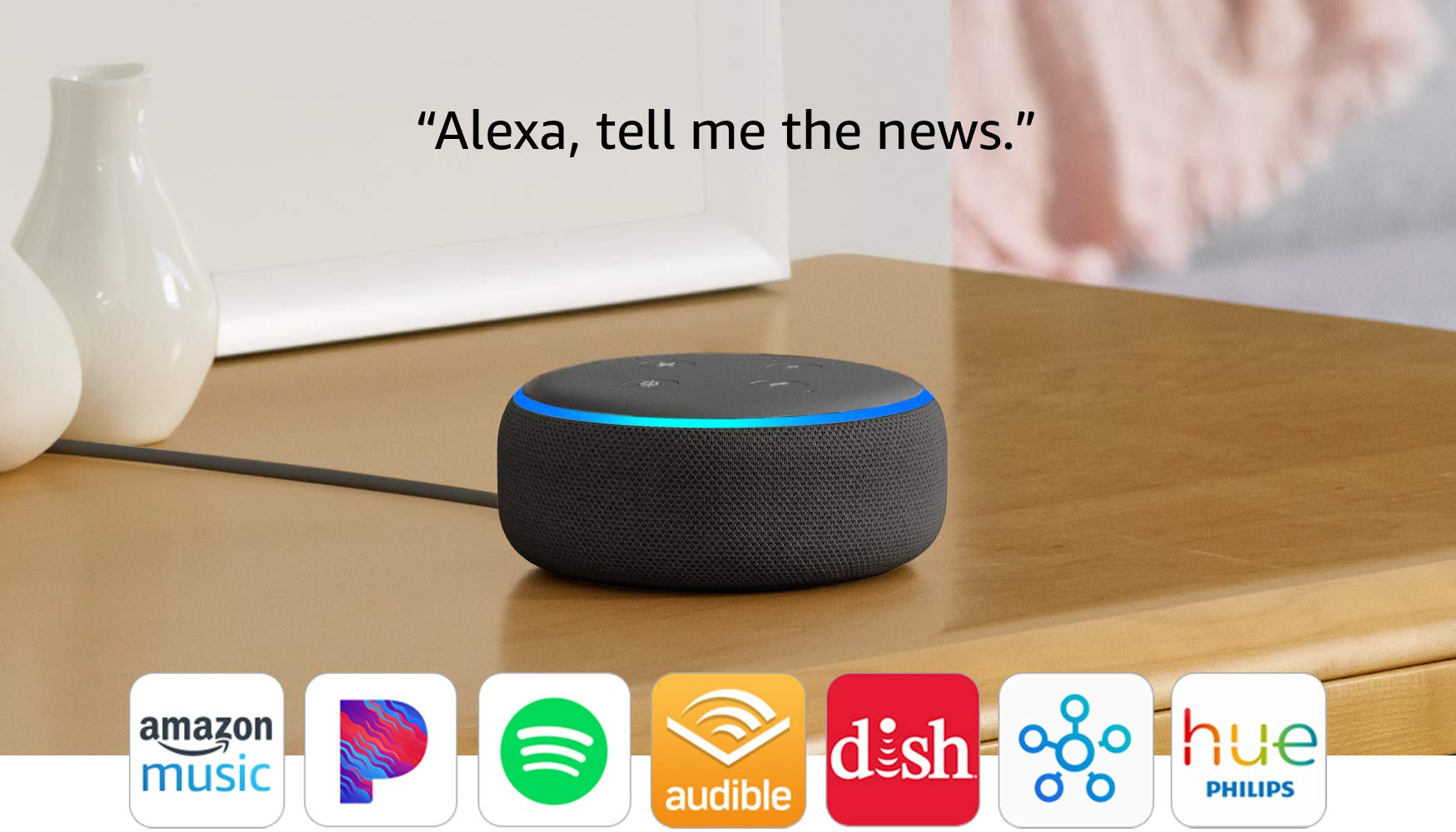 All-new Echo Dot (3rd Gen) – Smart speaker with Alexa – Sandstone