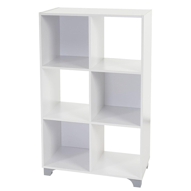 Scaffale modulare libreria T364 design moderno truciolato ~ 29x61x96cm 6x scomparti Mendler