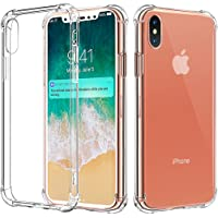 Comsoon iPhone X Case Clear Soft TPU Bumper Slim Protective Case Cover