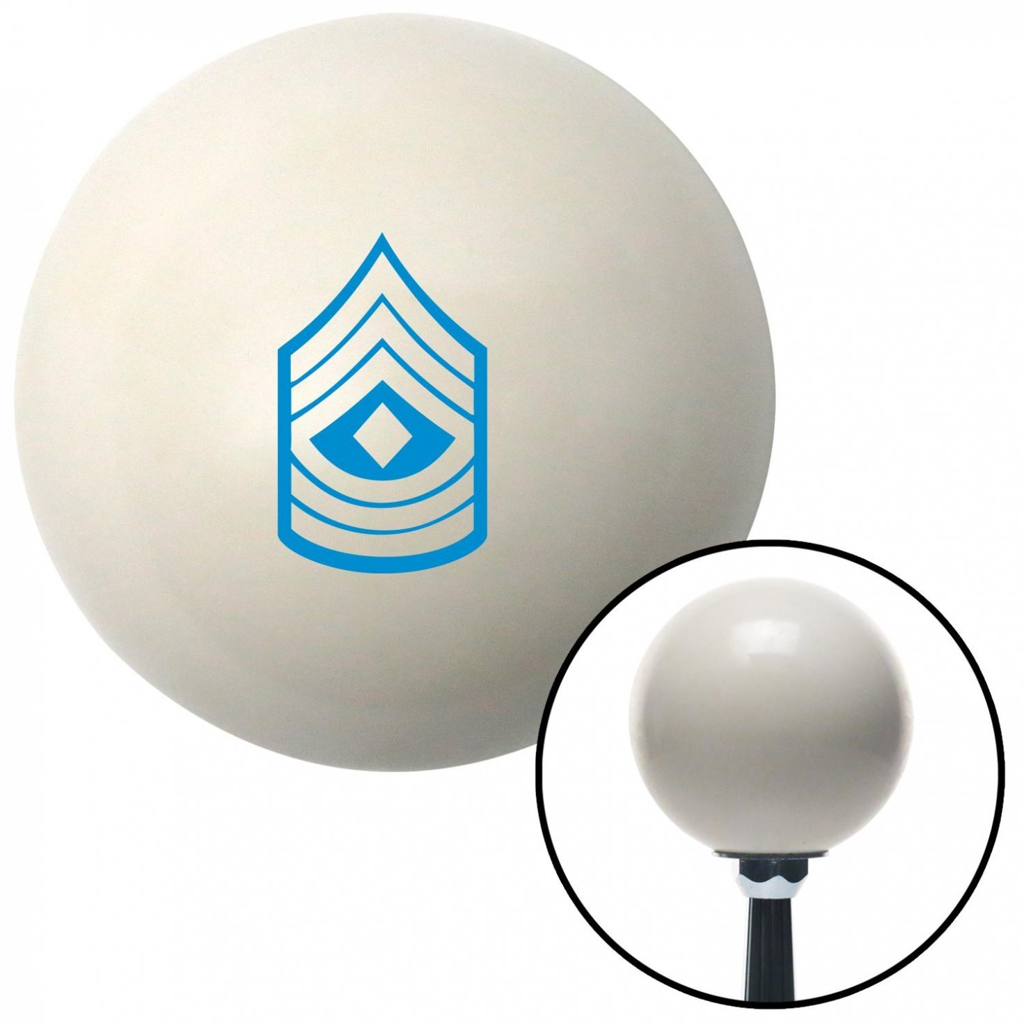 Blue 08 First Sergeant American Shifter 40741 Ivory Shift Knob with 16mm x 1.5 Insert