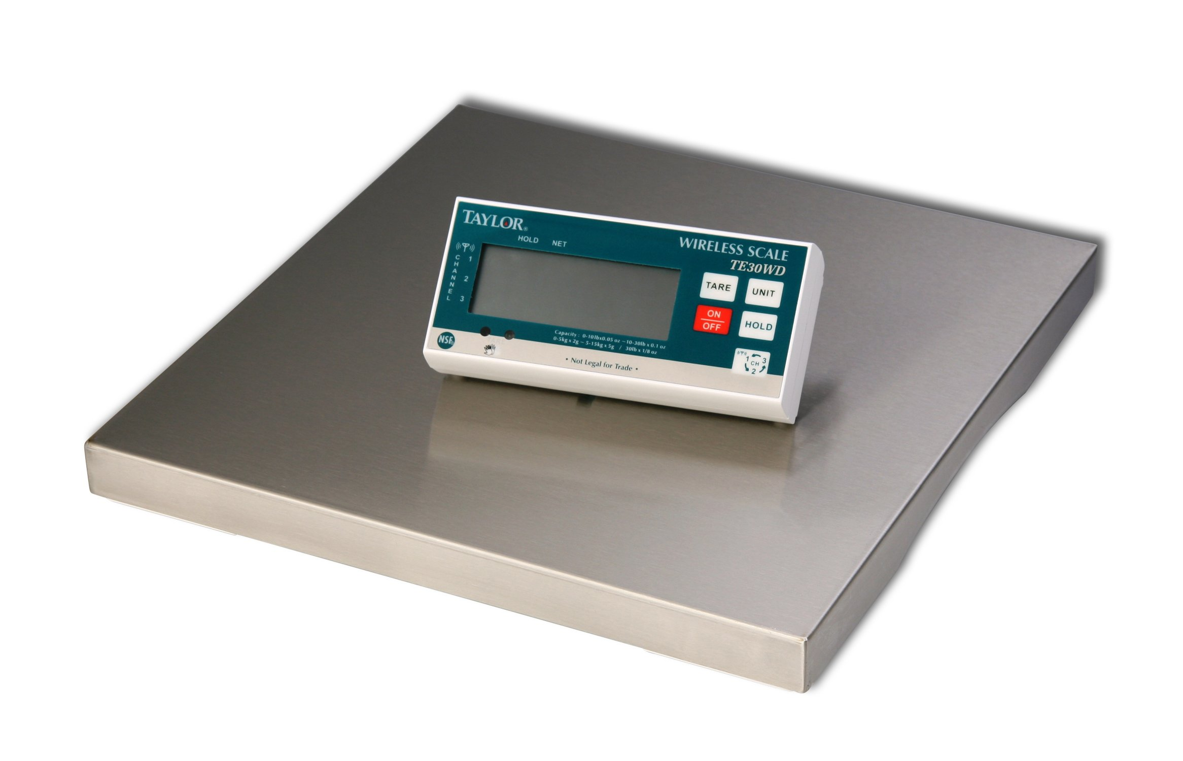 Taylor Precision Products TE30WD Digital Portion Control Scale with Wireless Digital Display, 30 lb., 15.10' Height, 15.25' Width, 3.0' Length