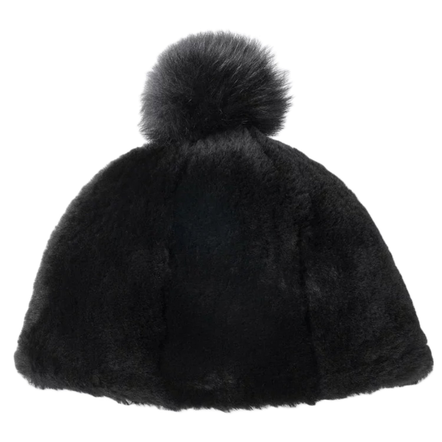 UGG Women's Exposed Sheepskin Beanie Black SM/MD by UGG