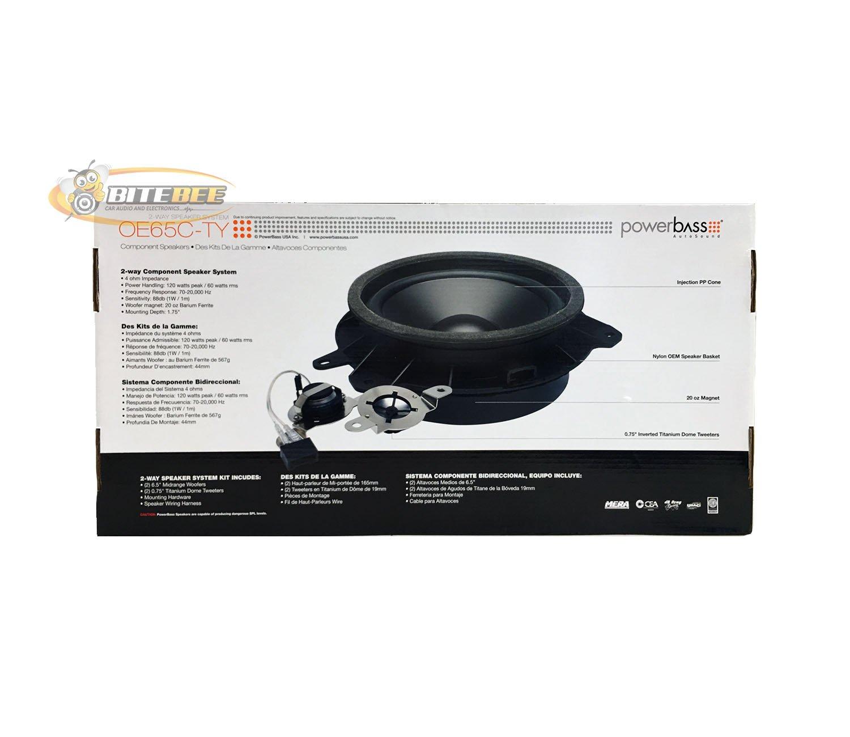 Powerbass Oe65c Ty 65 120w Oe Series 2 Way Component Car Audio Wiring Harness Kits Speaker System Electronics