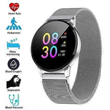 Padgene Smartwatch IP67 Impermeable Pantalla Color Pulsera Actividad Reloj Inteligente Deportivo con Monitor de Ritmo Cardiaco, Sueño, Notificación de ...