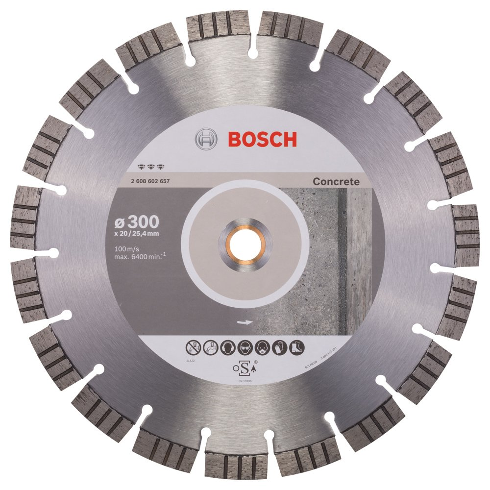 2608602657 BOSCH 300 X 20/25.4MM DIAMOND CUTTING DISC BEST CONCRETE