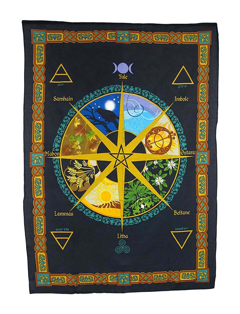 Pagan Calendar Natural Cycle Cotton Tapestry Zeckos 57470