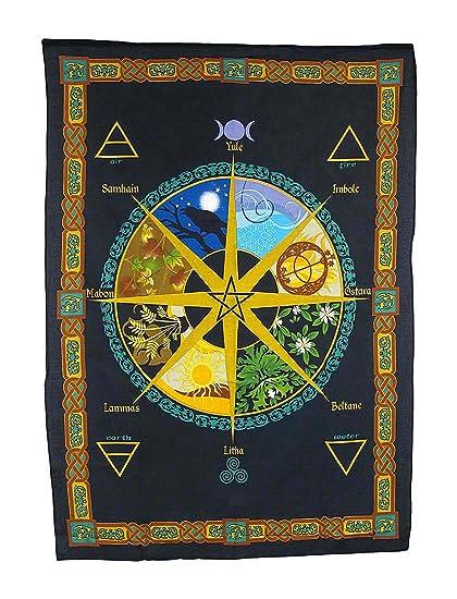 Pagan Calendar.Pagan Calendar Natural Cycle Cotton Tapestry