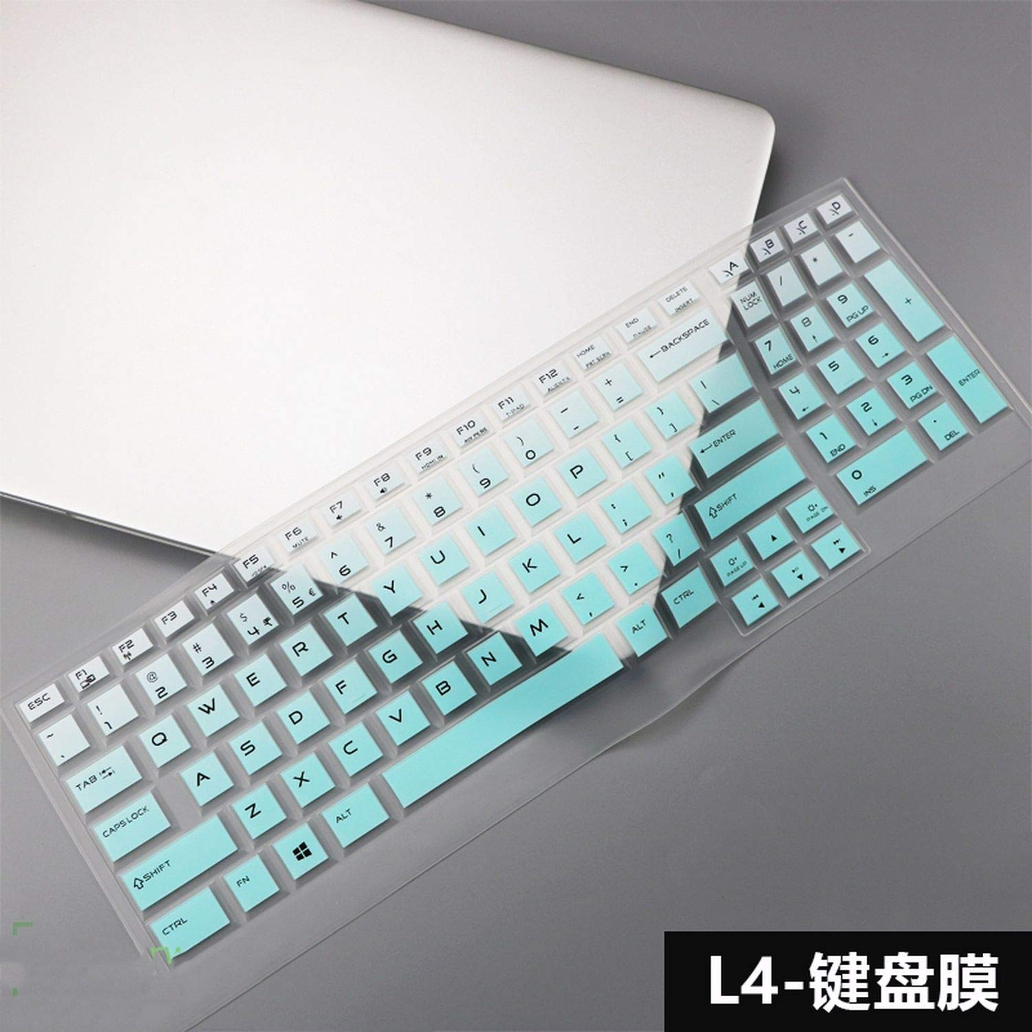 for Dell for Alienware Area 51m 17 Inch 17 R5 2019 Area 51m M17 Alw17m Alwa51m I7 I9 9700k Keyboard Protector Skin Cover,L4 Blue