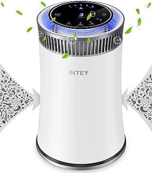 INTEY Purificador de aire con filtro HEPA, limpiador de mesa con luz nocturna LED y 5 funciones de temporizador: Amazon.es: Bricolaje y herramientas