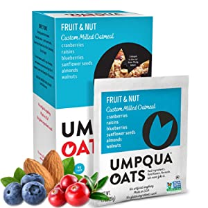 Umpqua Oats | All Natural, Premium Oatmeal Packets | No Mush, Custom Milled | Non-GMO (Fruit and Nut, 24 Packets)