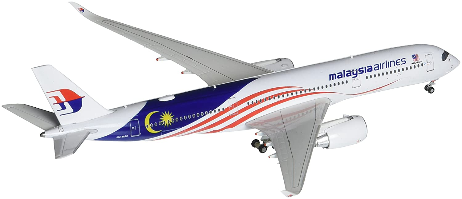 50b63f526fa4 Amazon.com  GeminiJets Malaysia Airlines A350-900 9M-MAC Negaraku Livery 1  400 Scale Die Cast Airplane Model  Toys   Games