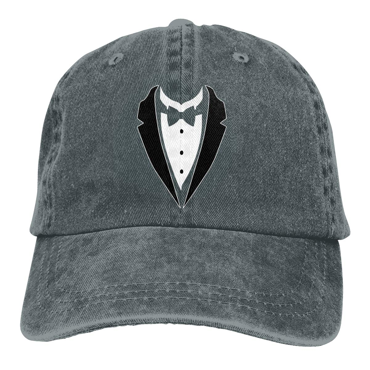 PMGM-C Tuxedo with Bow-tie Adult Trendy Denim Casquette Adjustable Baseball Cap