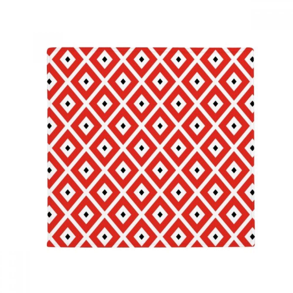DIYthinker Geometry Red Black Pattern Japan Anti-Slip Floor Pet Mat Square Home Kitchen Door 80Cm Gift
