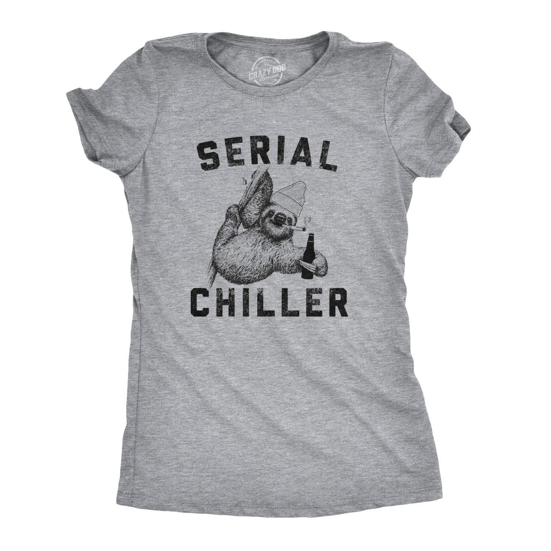 Serial Chiller Tshirt Funny Lazy Sloth Tee 8651