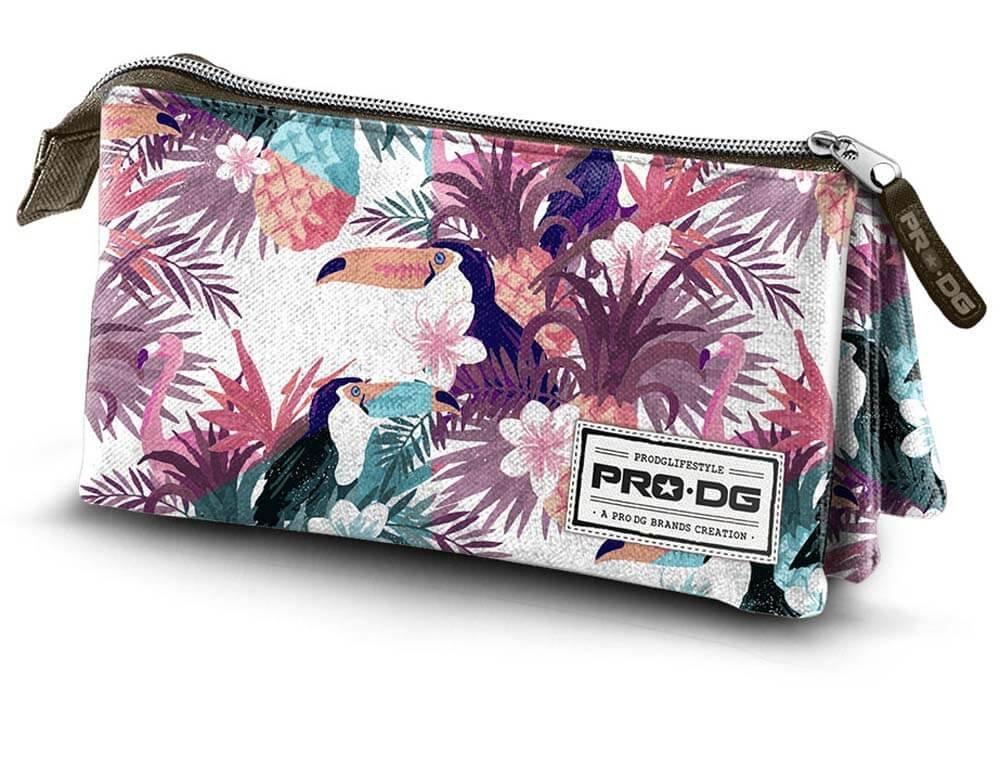 Multicolored Multicolore PRODG PRODG Triple Pencil Case Tropic Trousses 23 cm