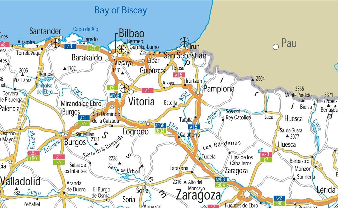 España carreteras mapa – Vinilo – A1 tamaño 59,4 x 84,1 cm: Amazon.es: Oficina y papelería