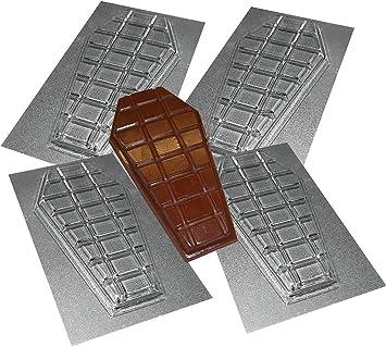 4 moldes en forma de ataúd para barras de chocolate, diseño para Halloween: Amazon.es: Hogar