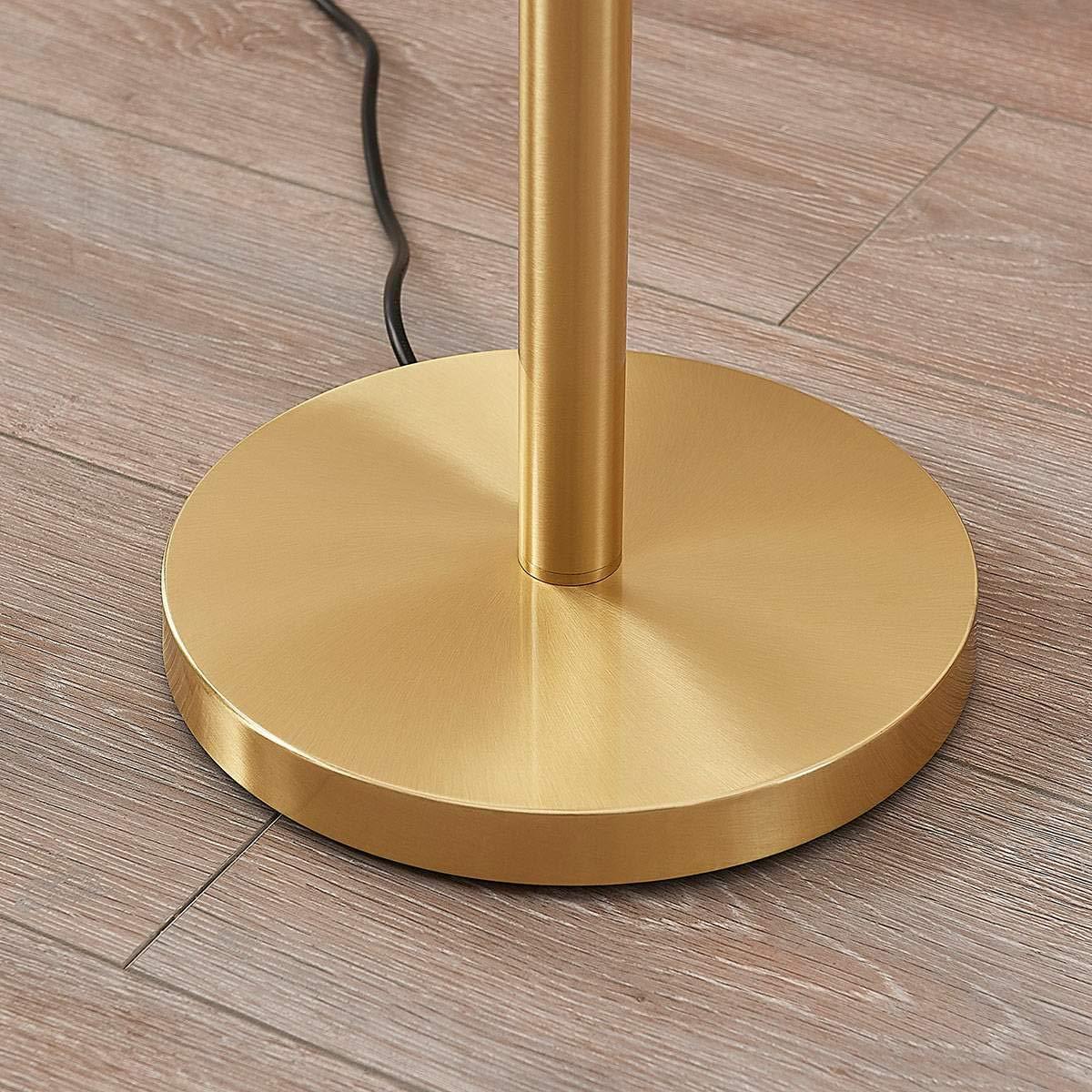 l/ámpara de pie de LINDBY para Sal/ón /& Comedor L/ámpara de pie Ignacia en Dorado hecho de Metal e.o l/ámpara de pie 1 llama, E27, A++