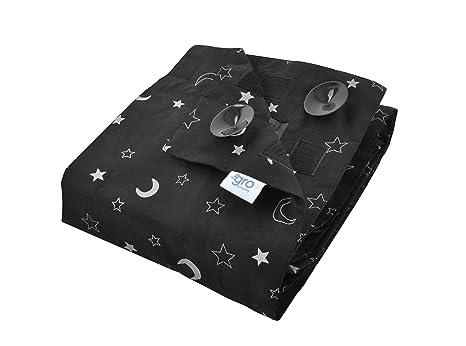 Gro EFA006 Gro Anywhere Blind, tragbares Verdunklungsrollo - Sterne, schwarz