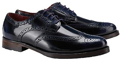 Schuhe Donhurst Farbig poliertes Leder (45, Grün Schwarz) Wellensteyn