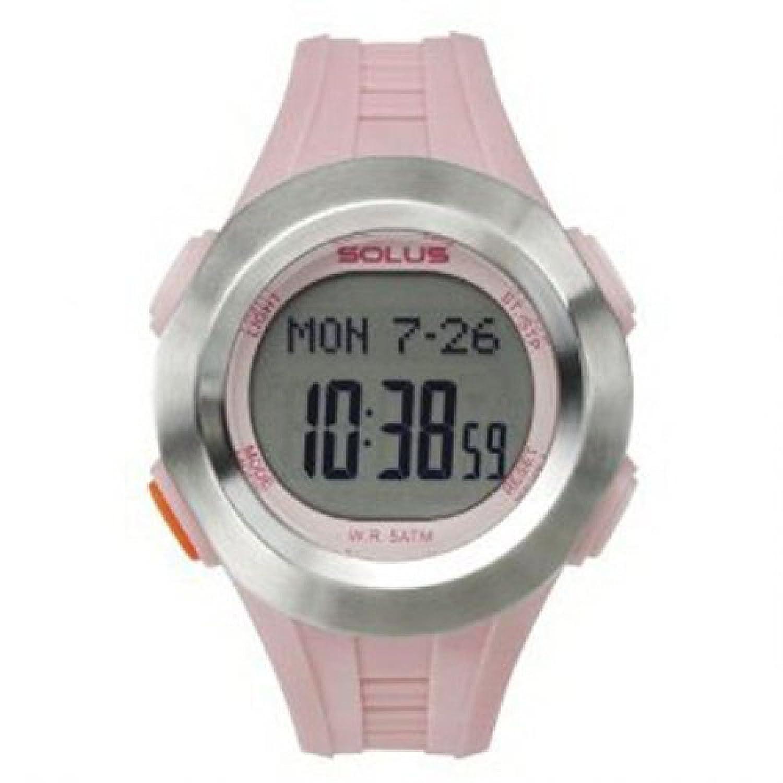 SOLUS Damen Digital Freizeitarmbanduhr mit LCD Ziffernblatt - Datumsanzeige - Hintergrundbeleuchtung und rosafarbenem PU-